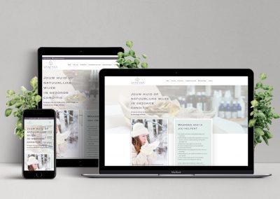 Nieuwe website schoonheidssalon Vanessa